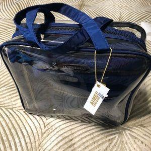 Handbags - 4 pieces navy blue makeup bag